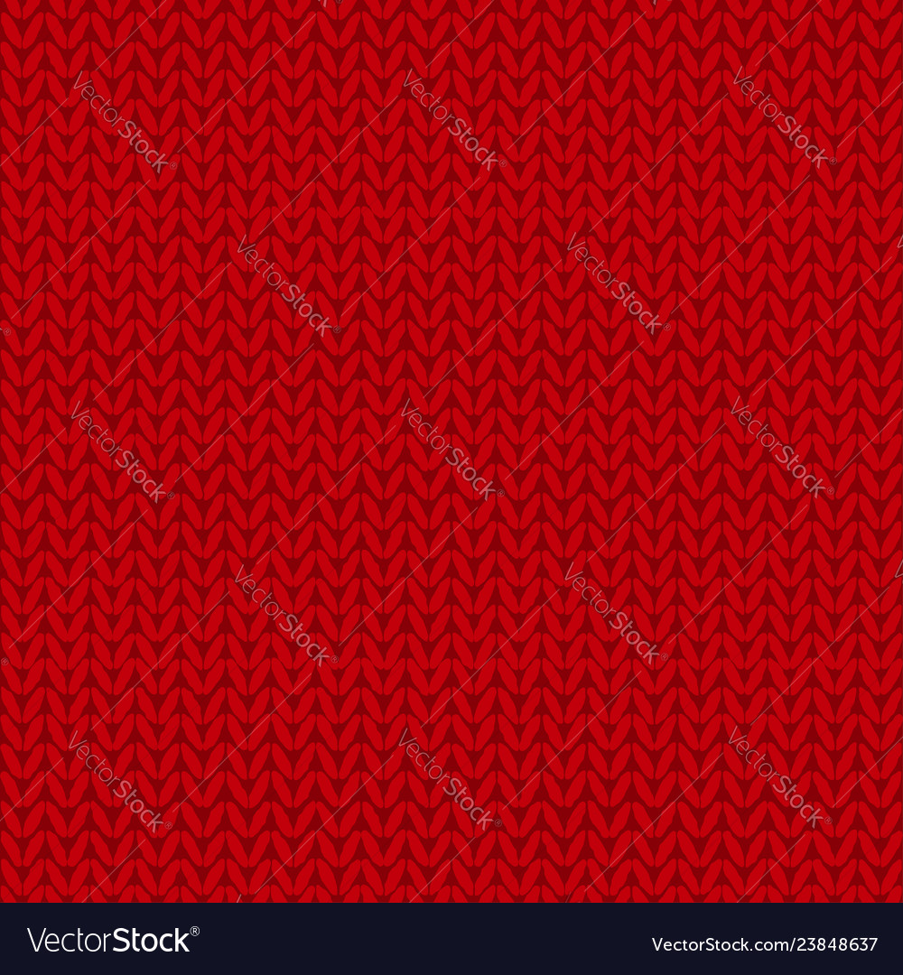 Knitted seamless pattern red knit background