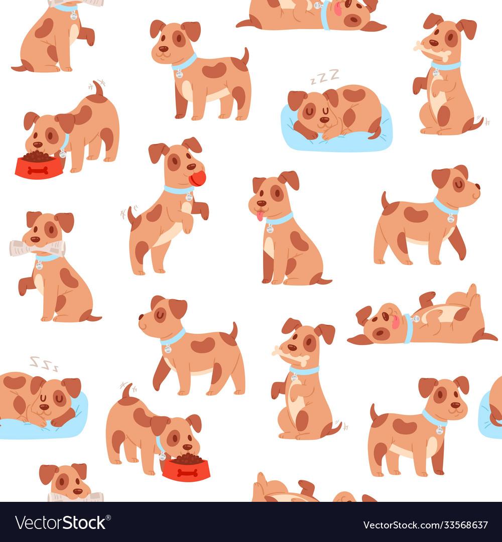 Puppy seamless pattern