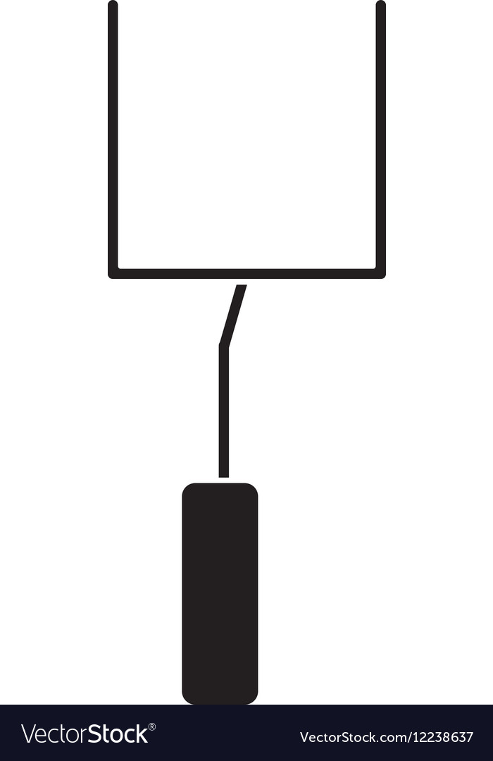 Silhouette american football goal post vector image