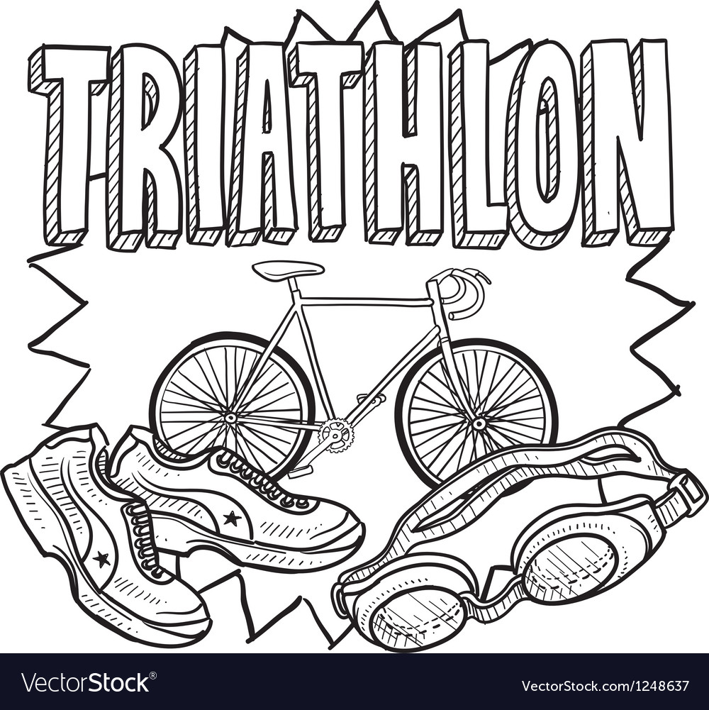Triathlon vector image