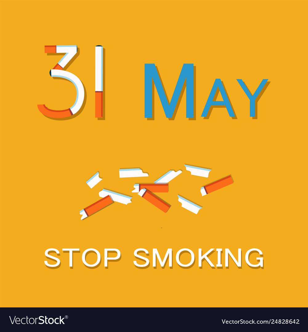 31 may stop smoking poster world no tobacco day