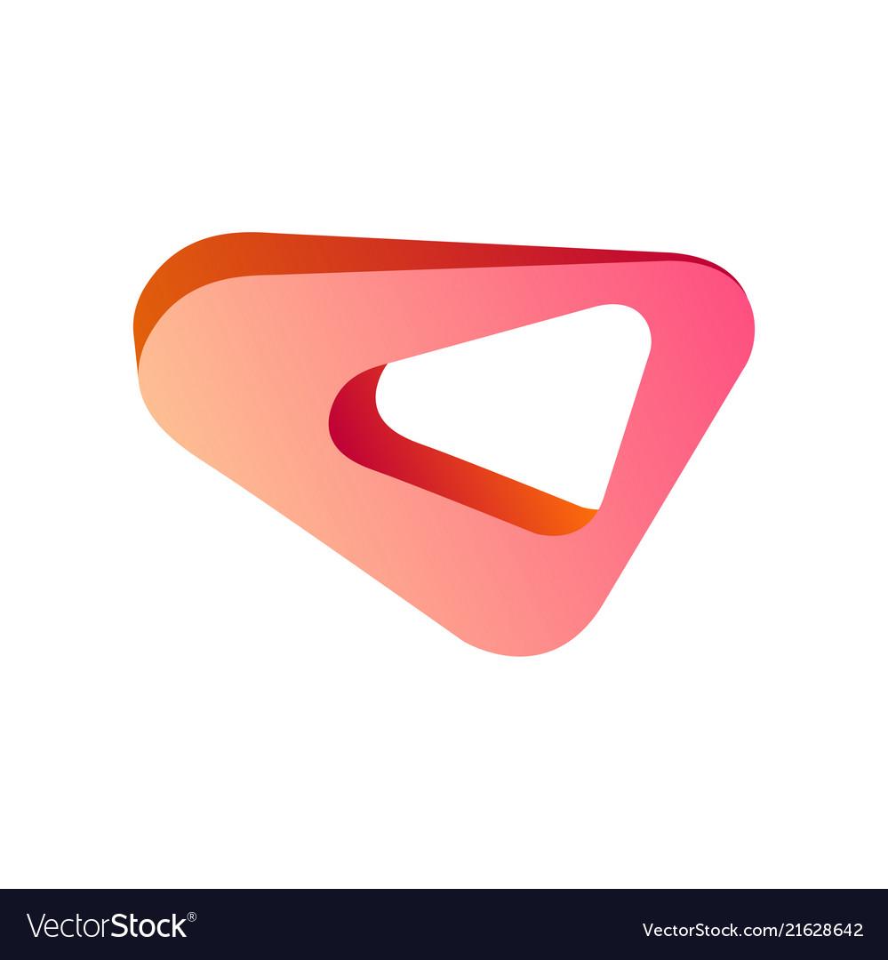 Abstract modern creative hot pink geometric shape