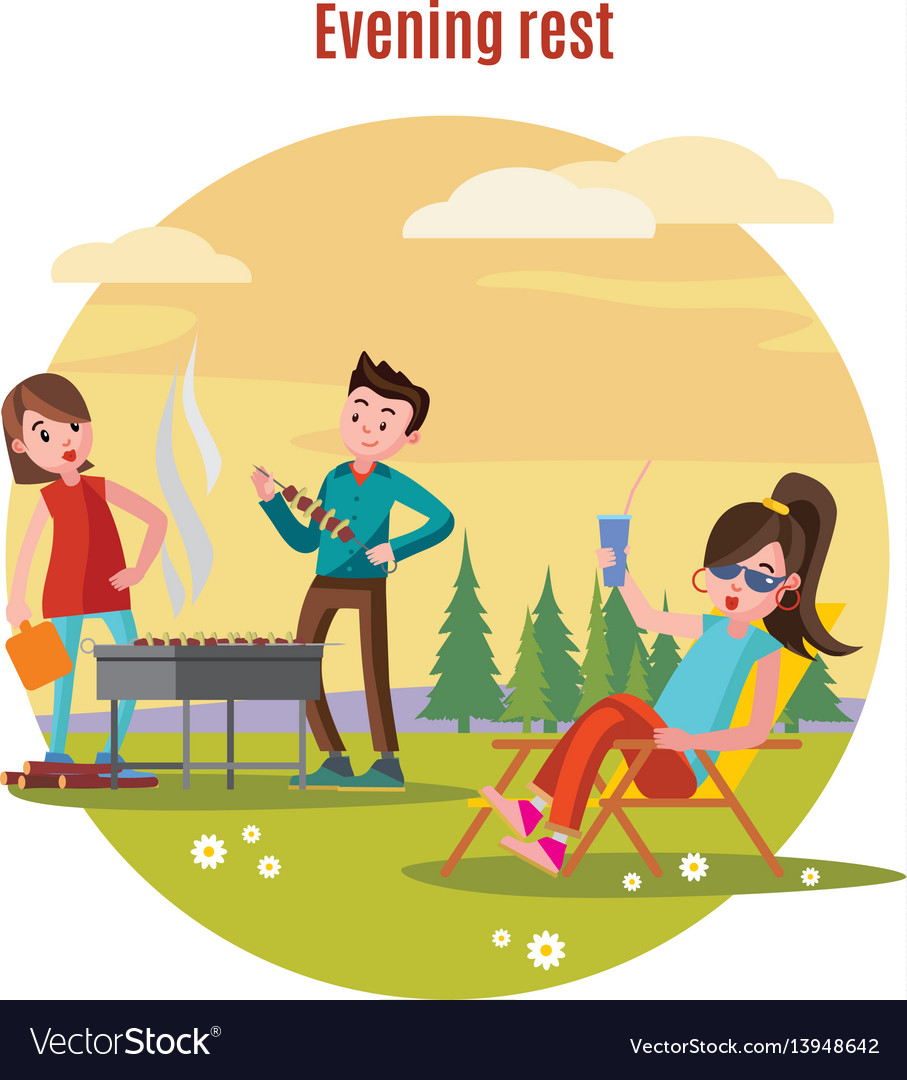 Colorful outdoor recreation concept