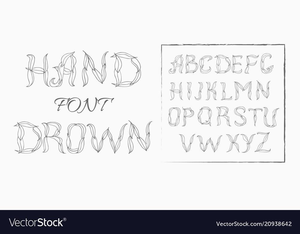 Plexus chalk hand drawing alphabet