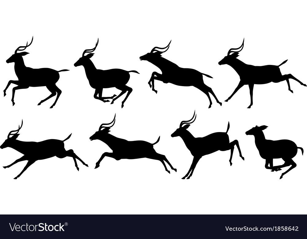Running antelope vector image