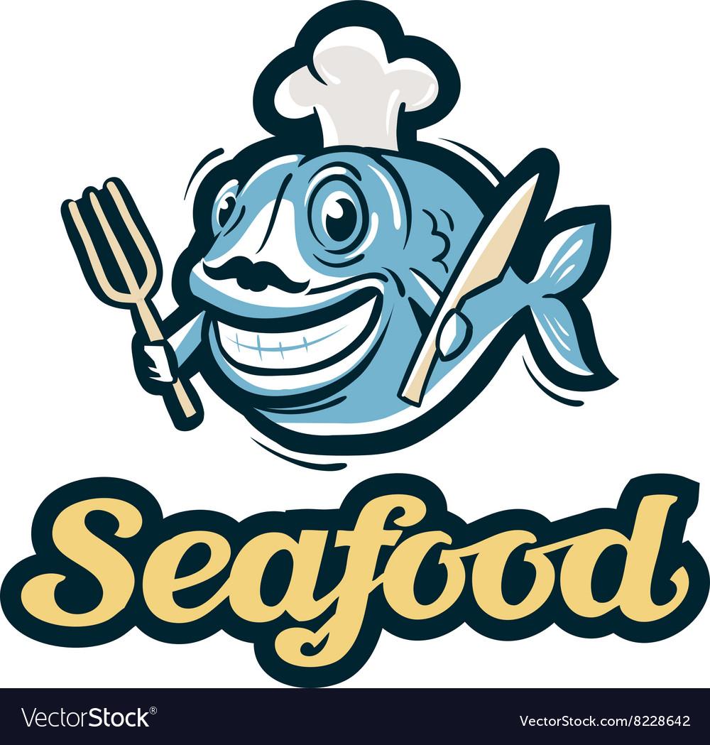 Seafood logo fish fishing or restaurant