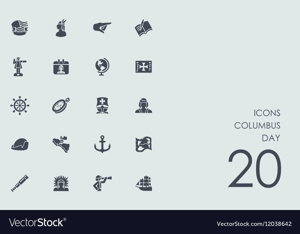 Set of columbus day icons
