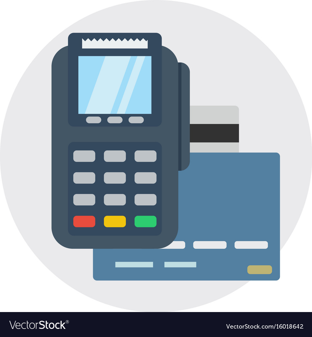 Terminal bank payment card pay credit shopping vector image
