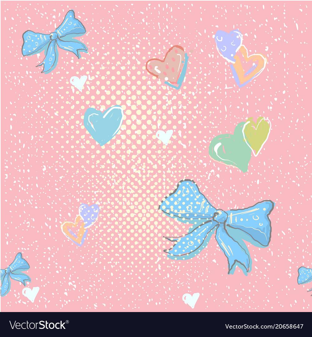 Cute seamless pattern with beautiful hand drawn
