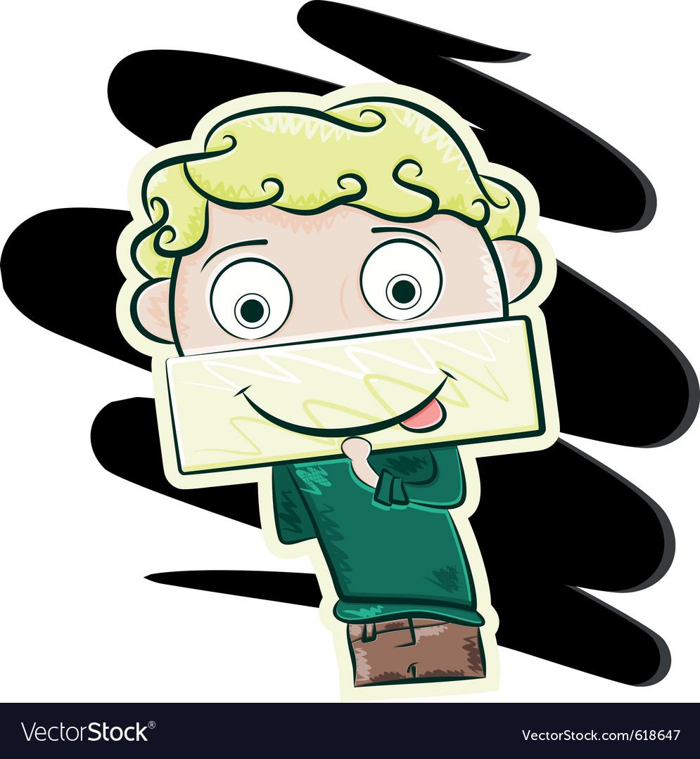 Happy little boy vector image