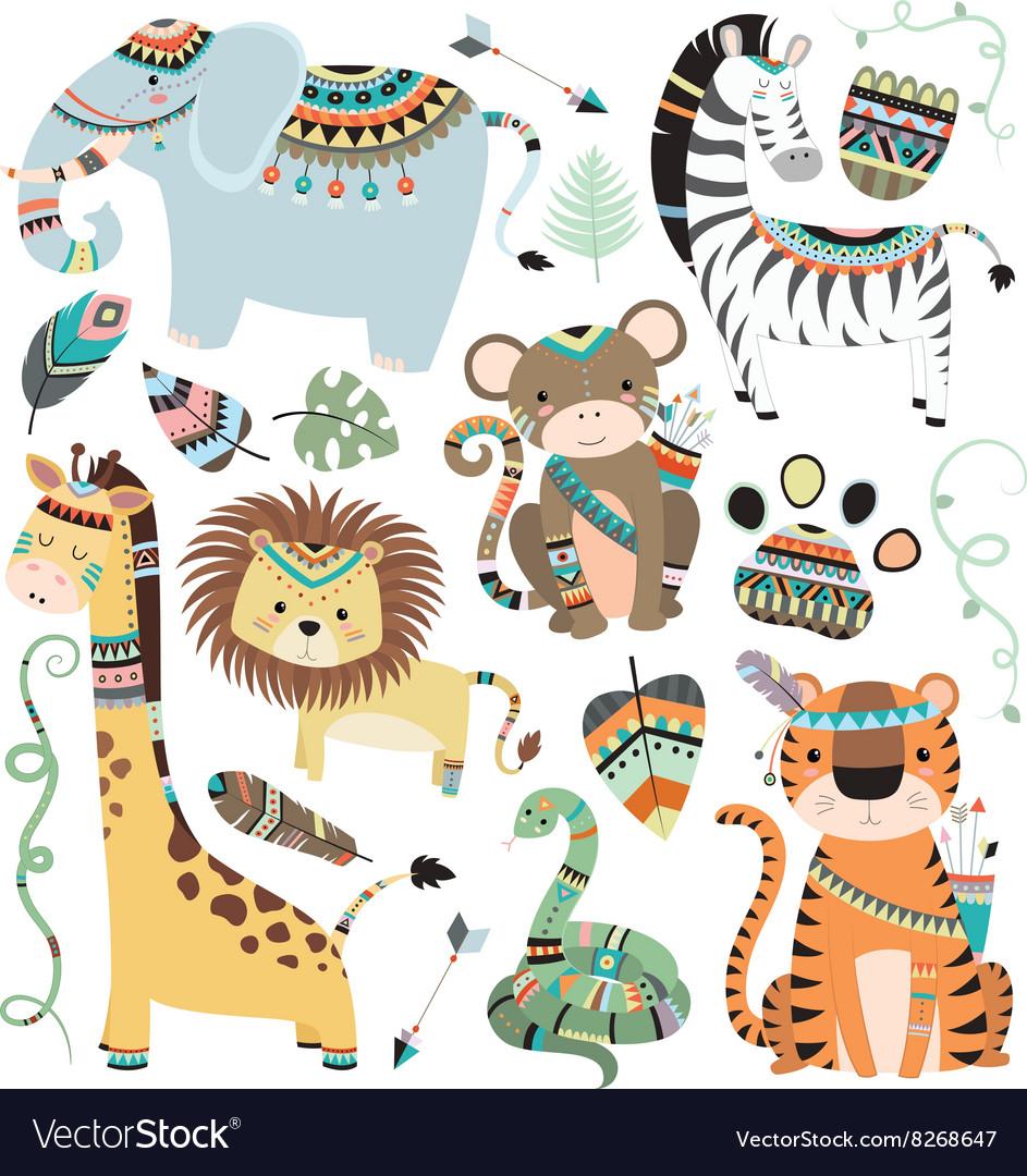 Jungle Tribal Animals