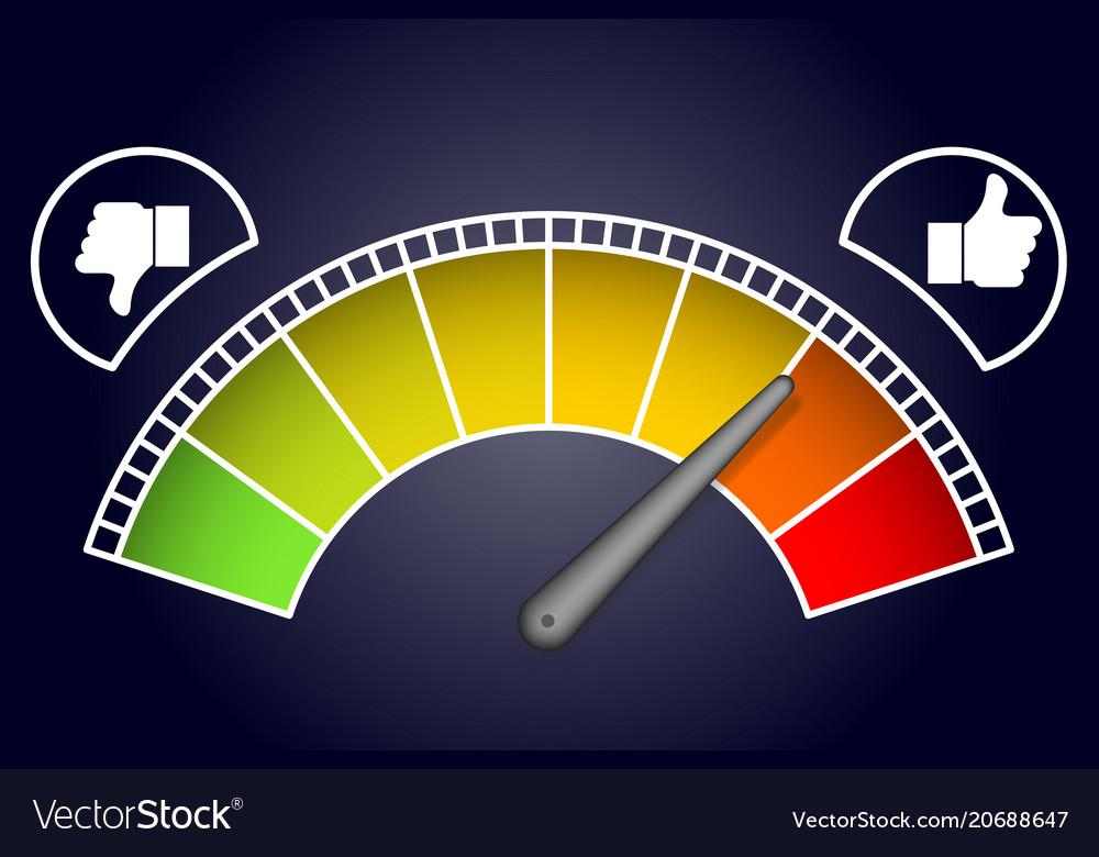 Like measurement meter dashboard arrow vector image