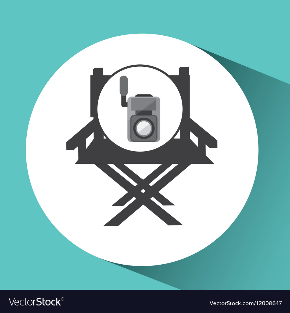 Movie video camera director chair