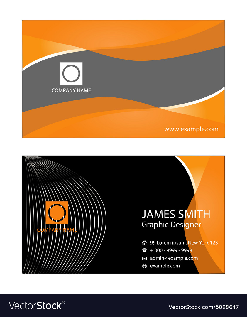 Premium business card design royalty free vector image premium business card design vector image reheart Choice Image