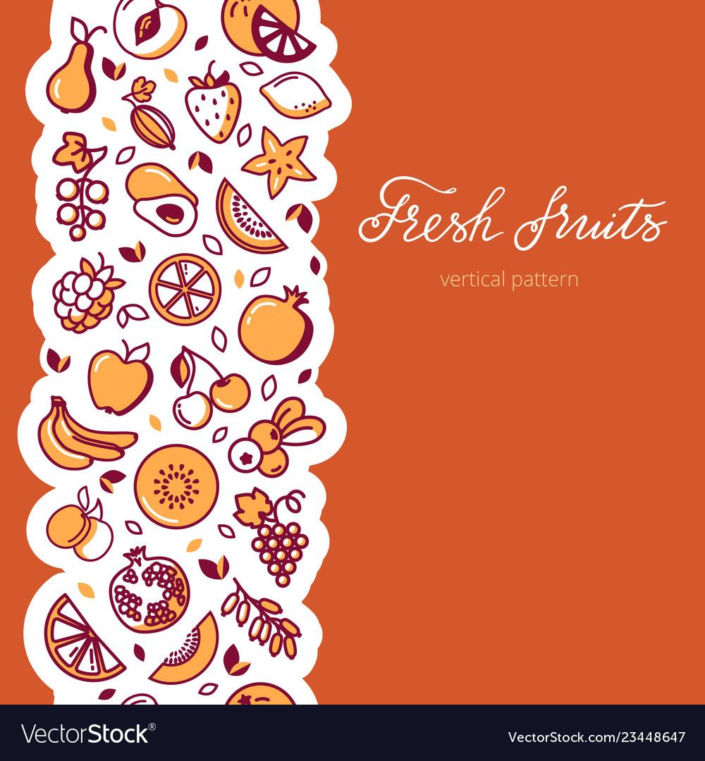 Vertical pattern of fruit