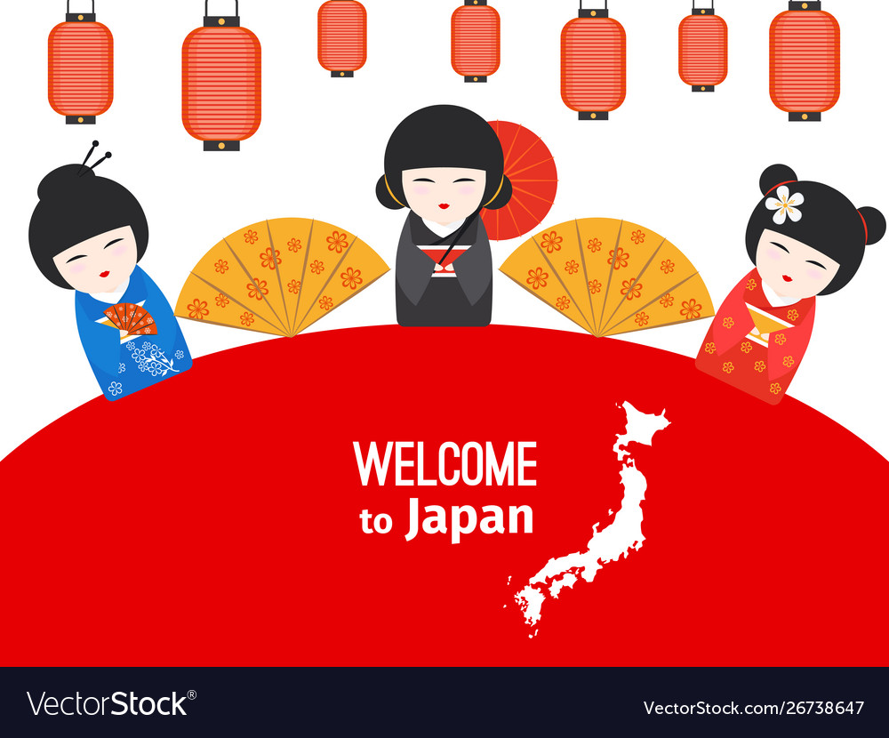 Welcome to japan poster design with