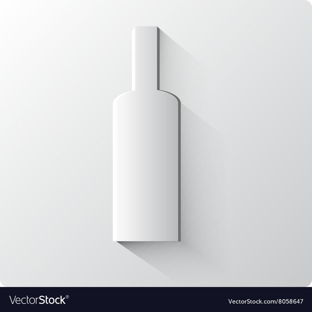 White paper bottle
