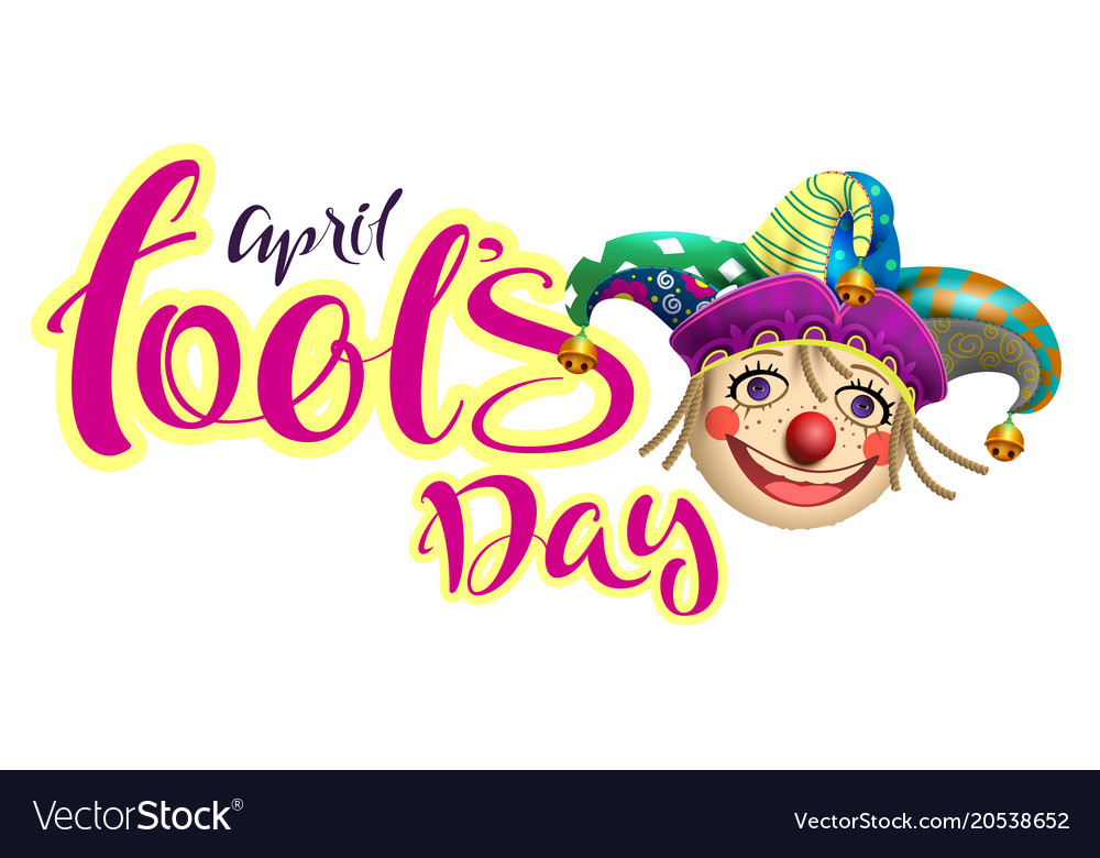 April fools day text for greeting card and retro