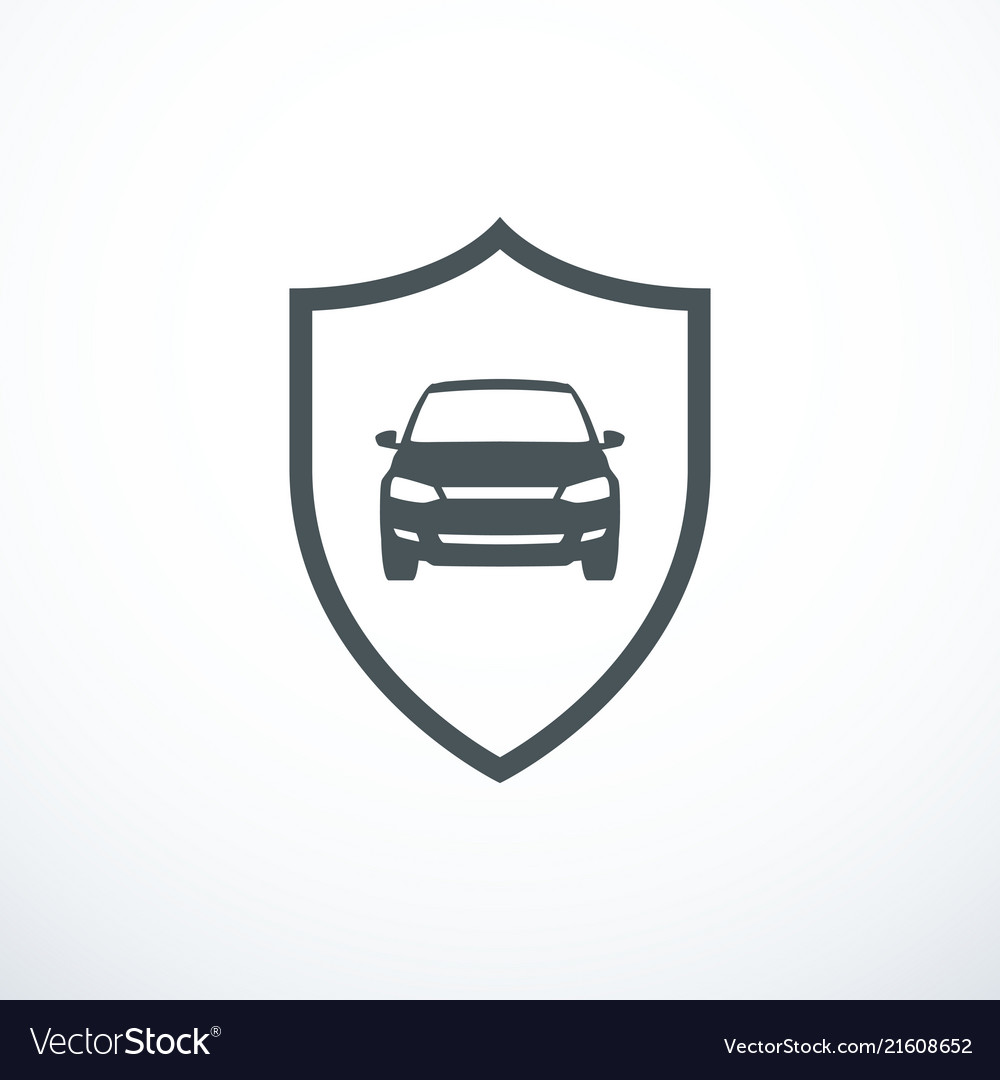 Car and shield icon