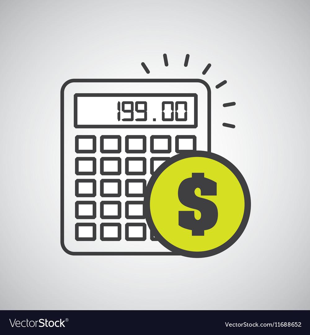 Financial calculator money economy icon