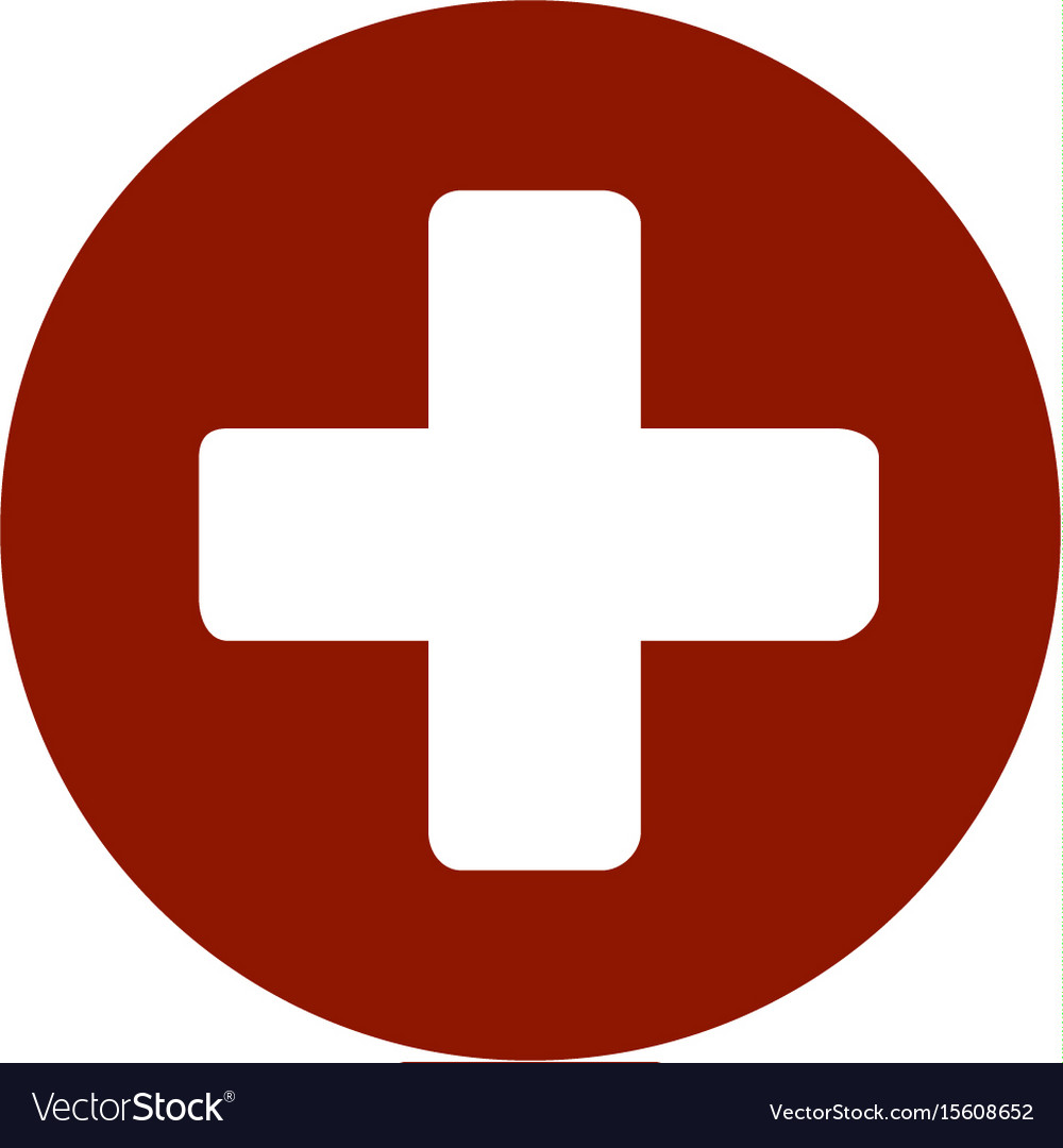 First aid medical sign flat icon for app and