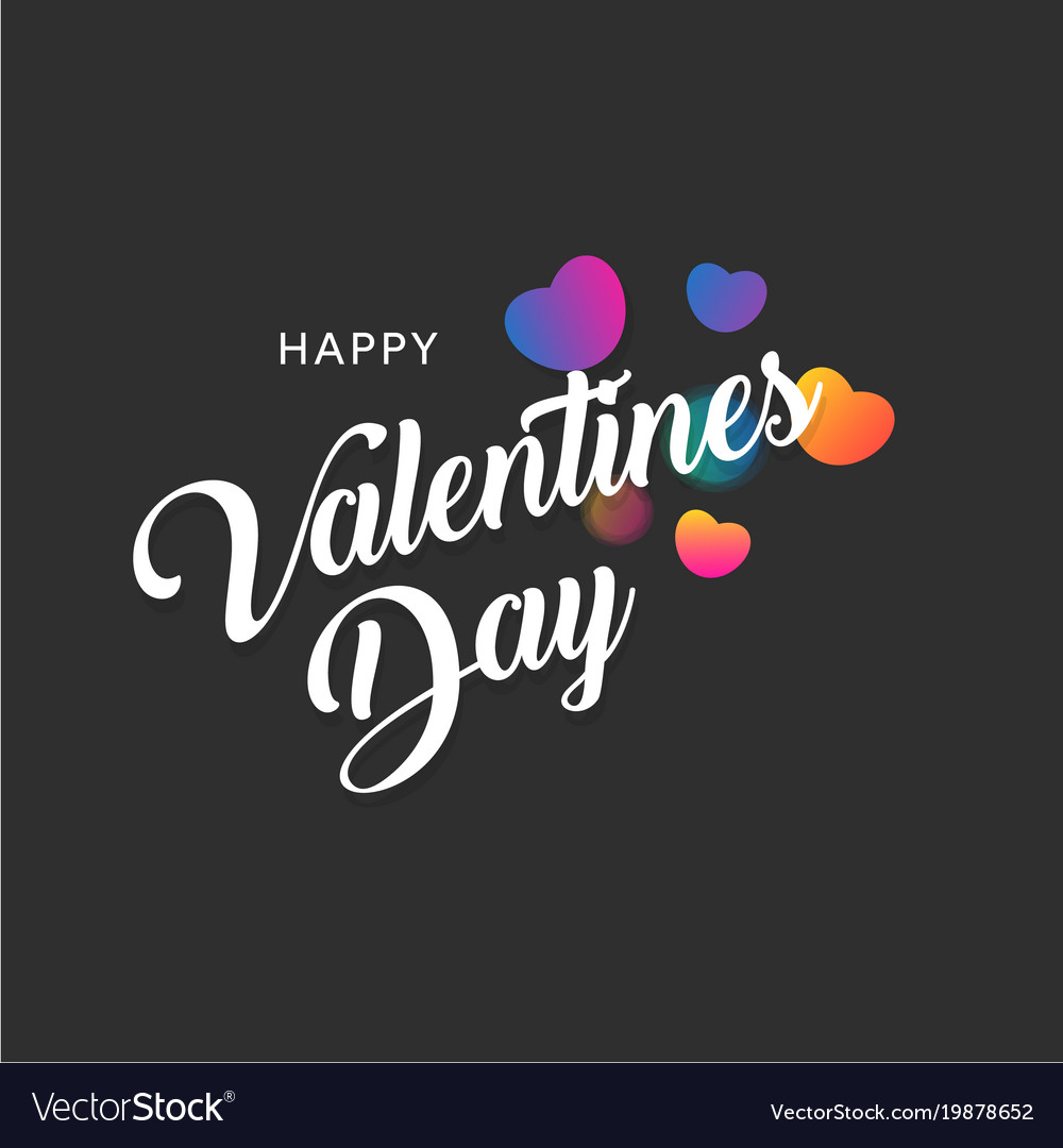 Happy valentines day greting banner with colorful