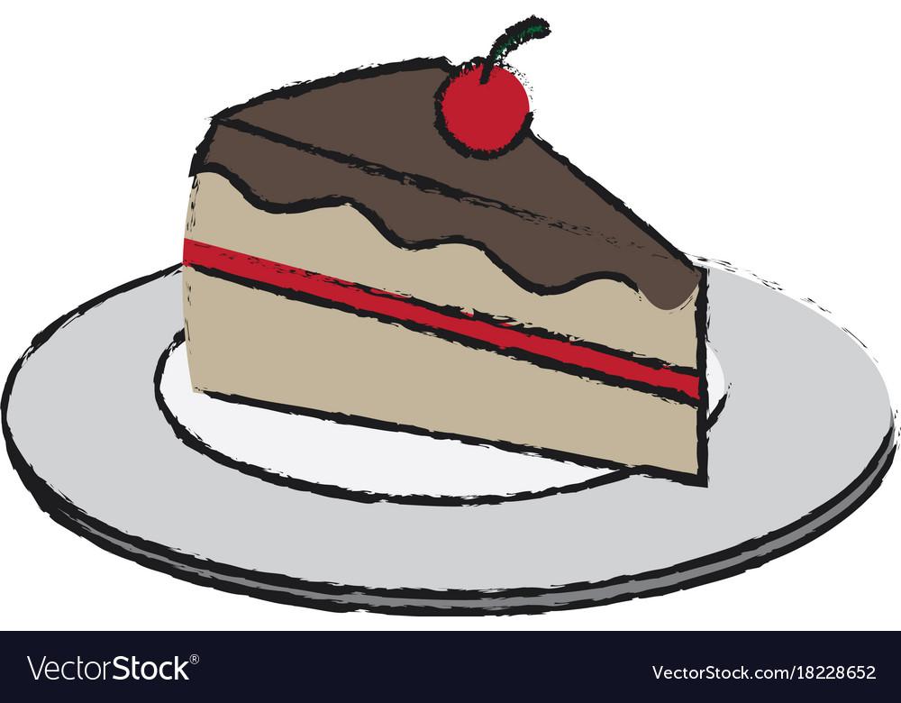 Piece Of Cake Icon Royalty Free Vector Image Vectorstock