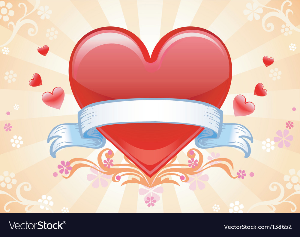 Val card heart vector