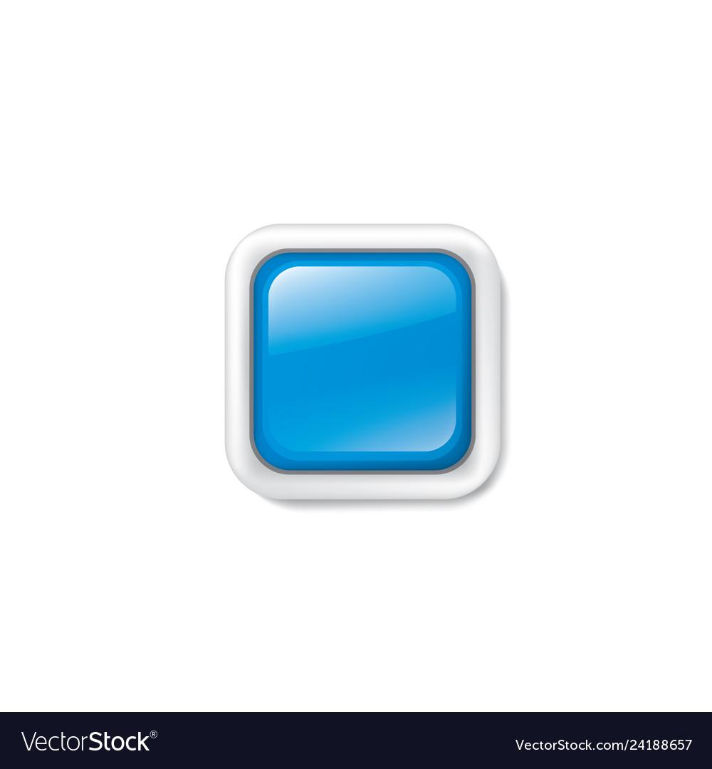 Blue sticker on white background