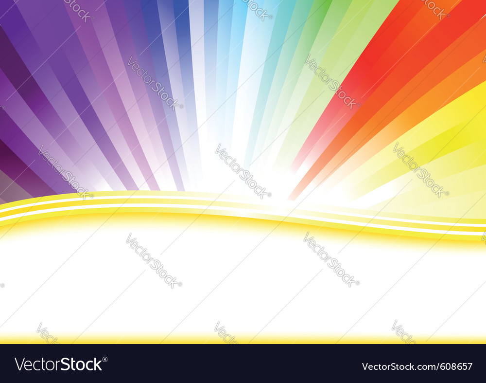 Card with colorful rainbow