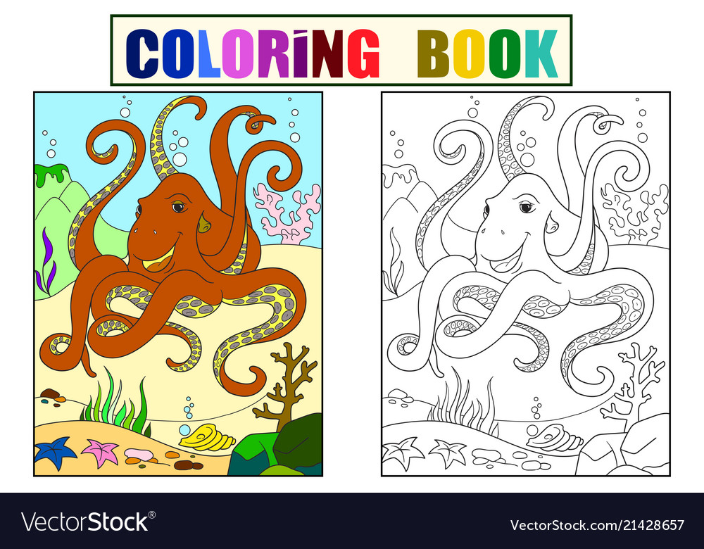 Color and coloring cartoon animal friends in