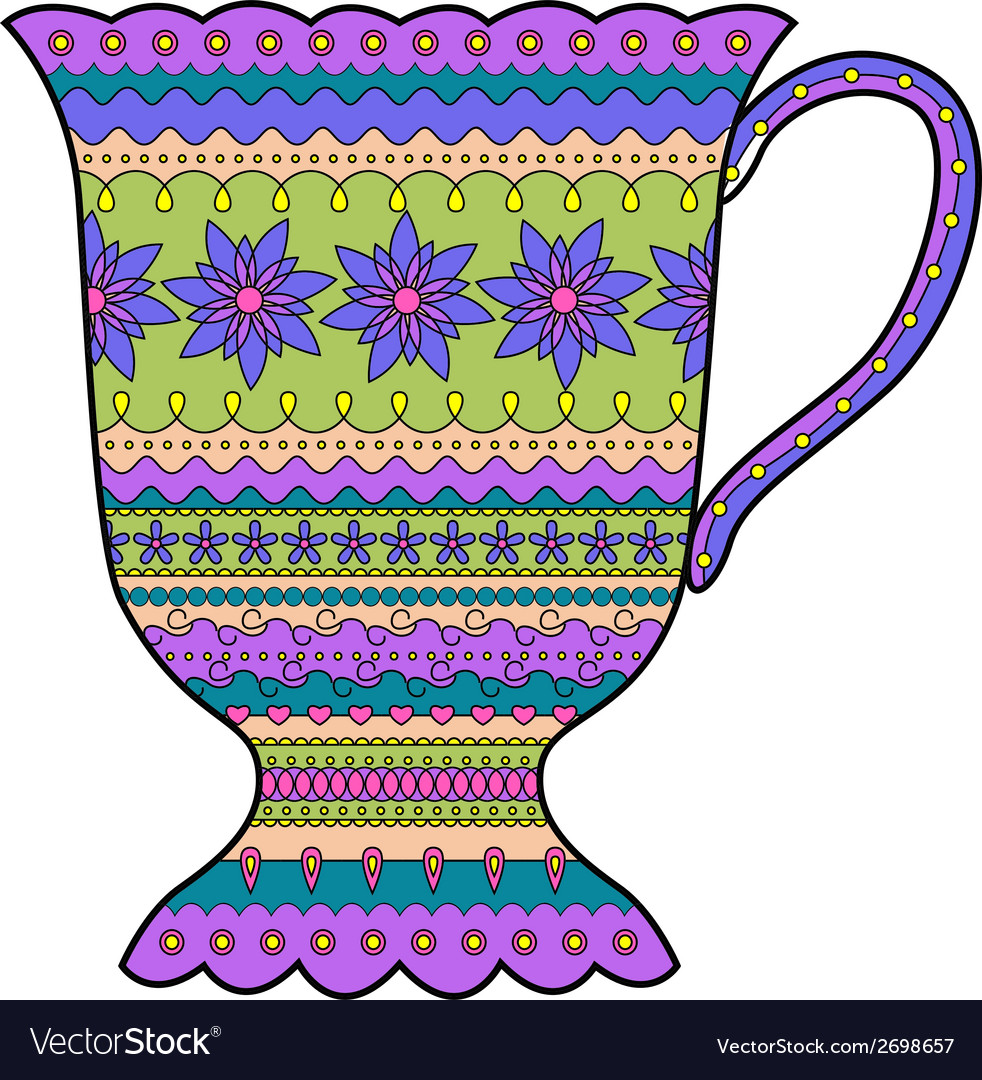Colorful cup vector image