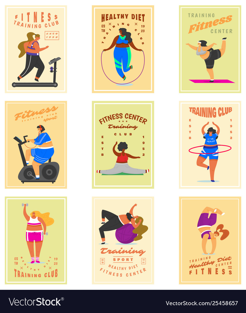Fitness girls plus size for banners posters
