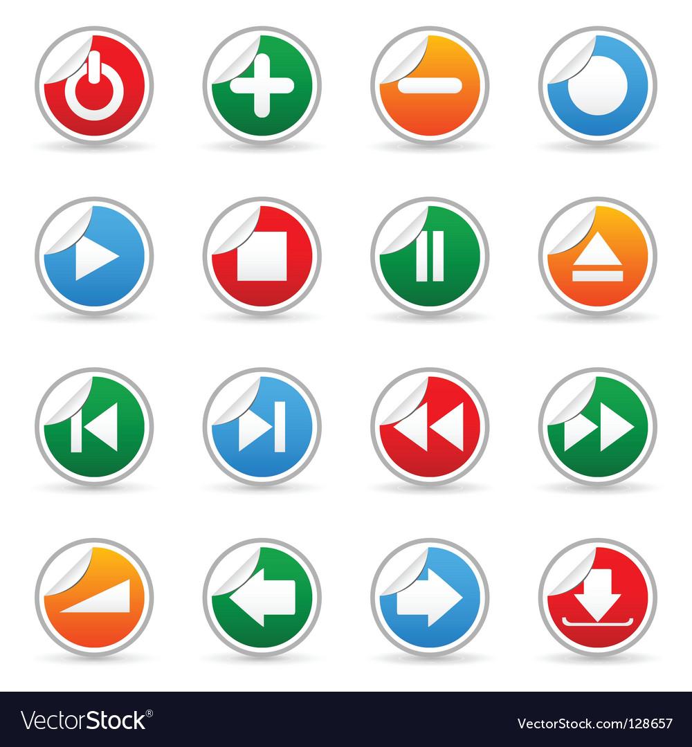 Media sticker icons