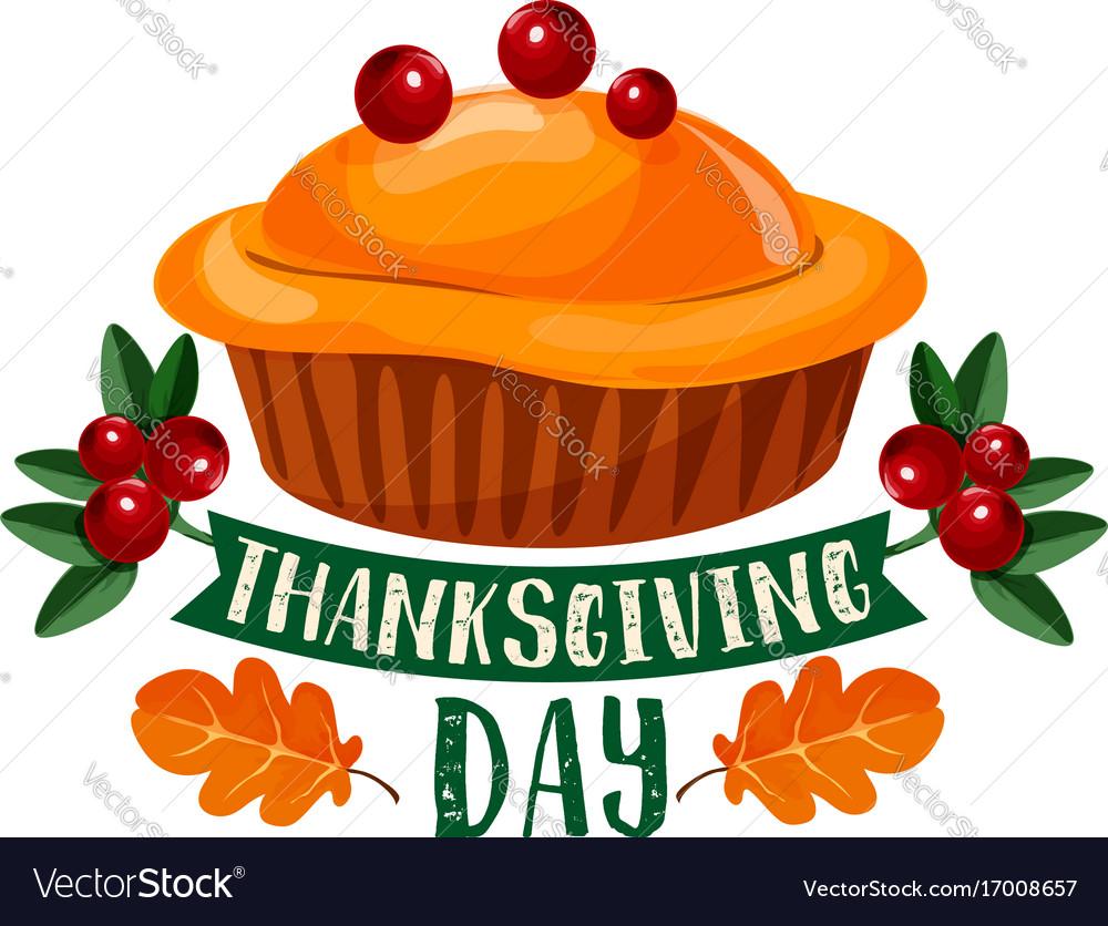 Thanksgiving day pumpkin dinner pie symbol design