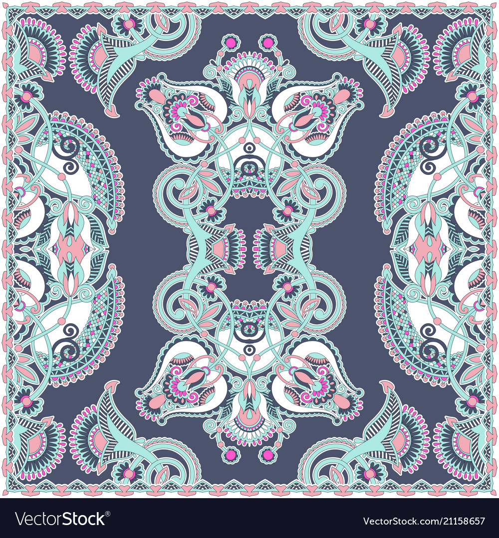 Traditional ornamental floral arabesque paisley