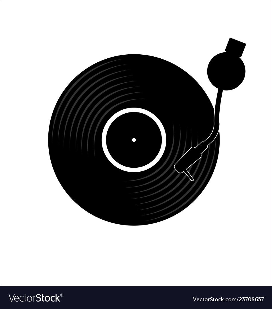 vinyl record disc flat simple concept royalty free vector vectorstock
