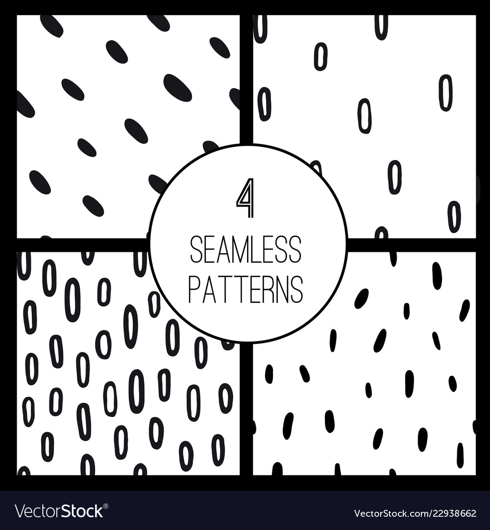 Abstract seamless pattern set
