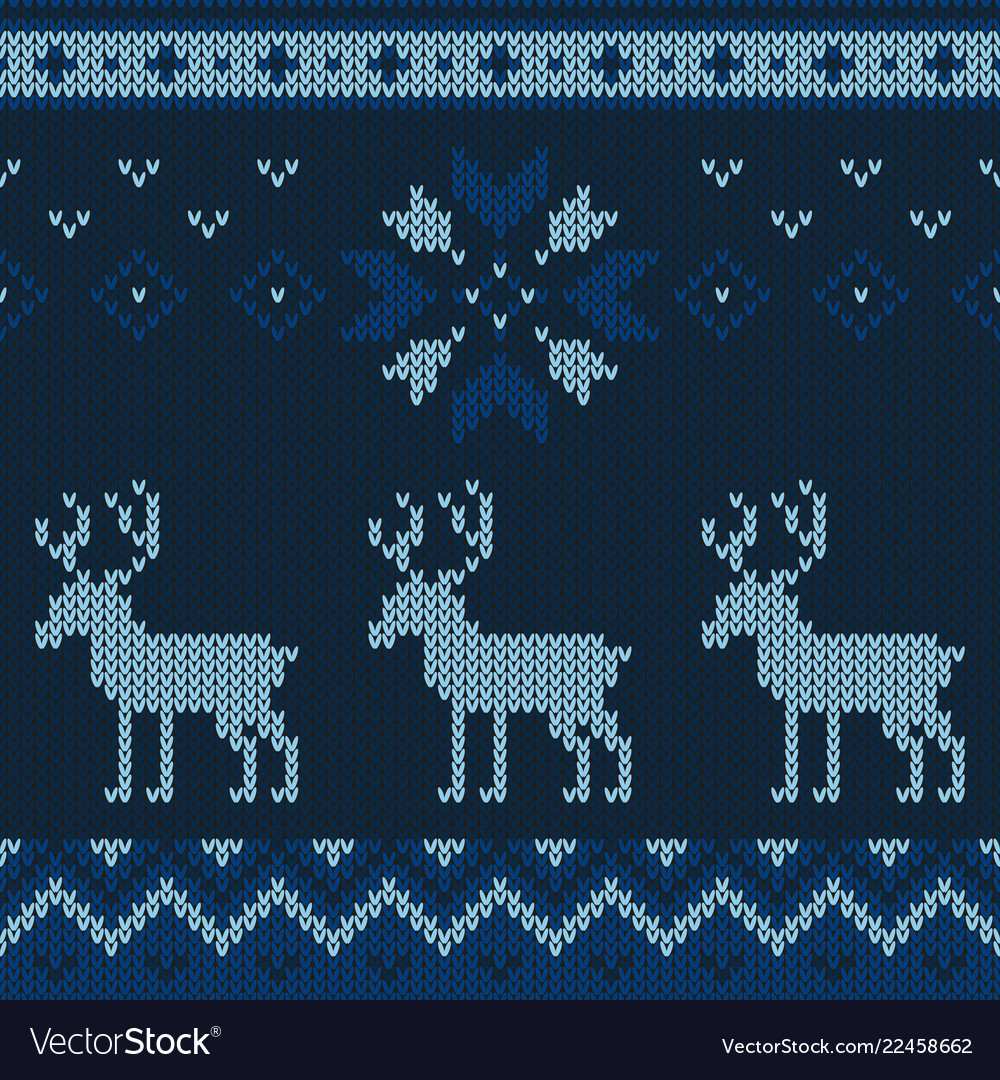 Christmas knitted pattern winter geometric