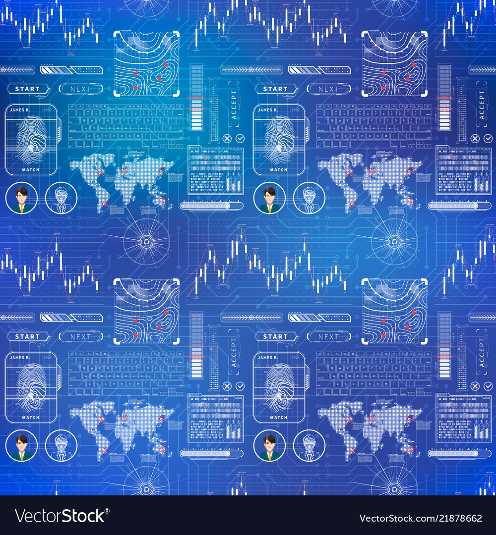 Futuristic user interface elements and charts