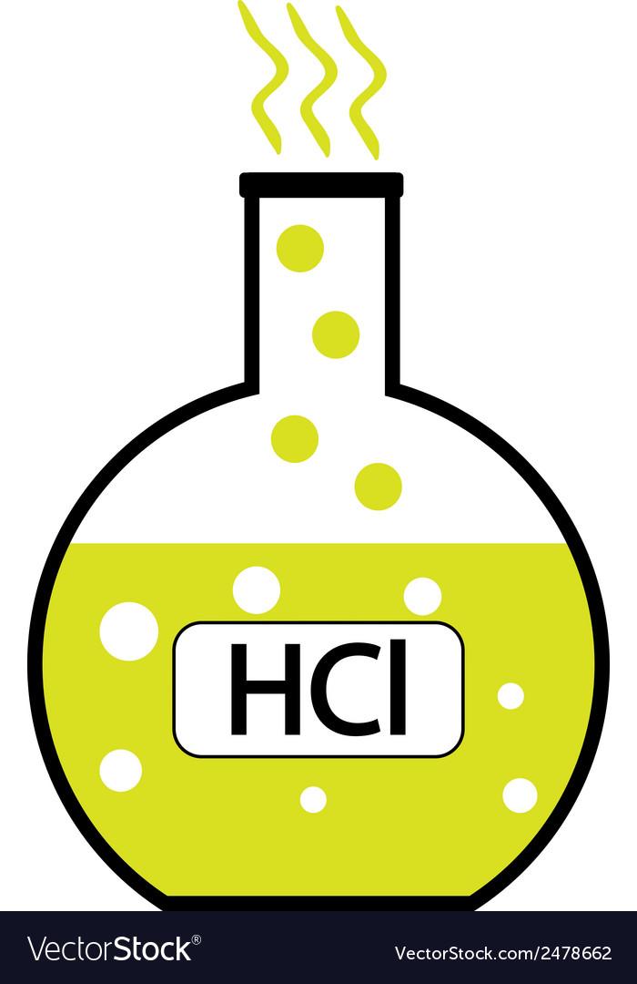 Hydrochloric Acid Royalty Free Vector Image Vectorstock
