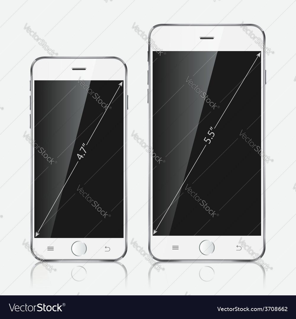 Realistic white mobile apple iphone 6 plus