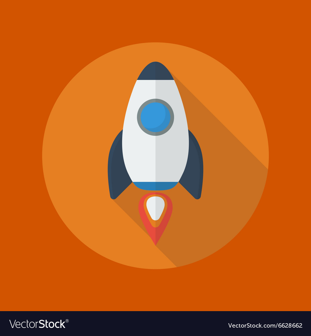 Transportation Flat Icon Spaceship