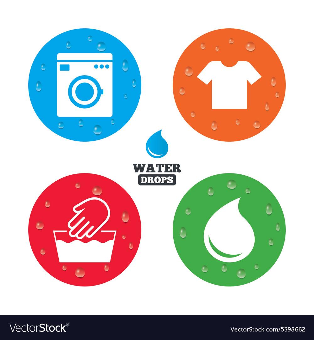 Wash Icon Not Machine Washable Symbol Royalty Free Vector