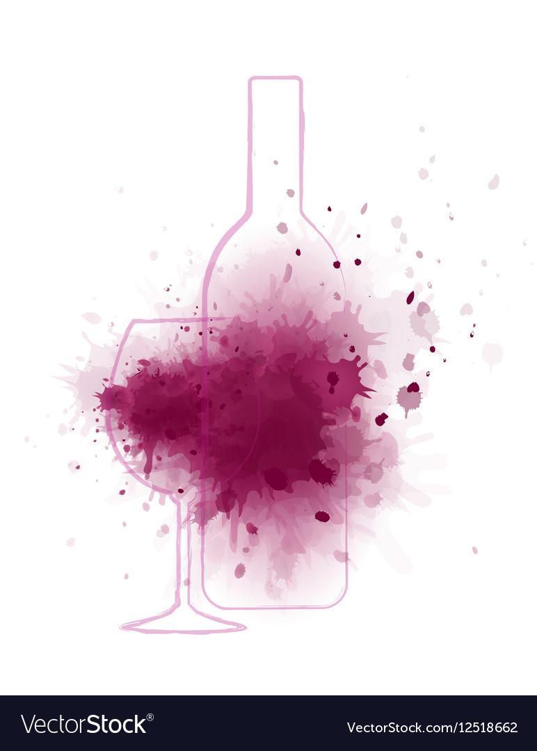 Wine splash background