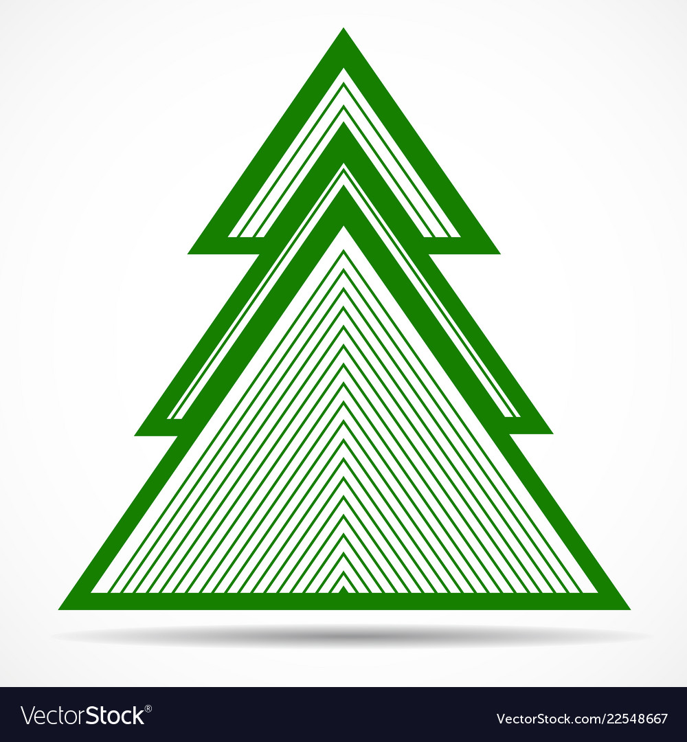 Abstract christmas tree of colorful lines