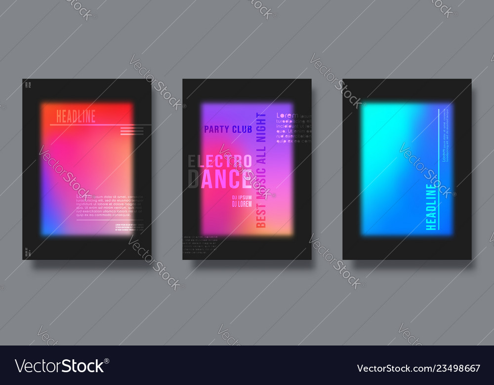 Abstract cover design gradient colorful