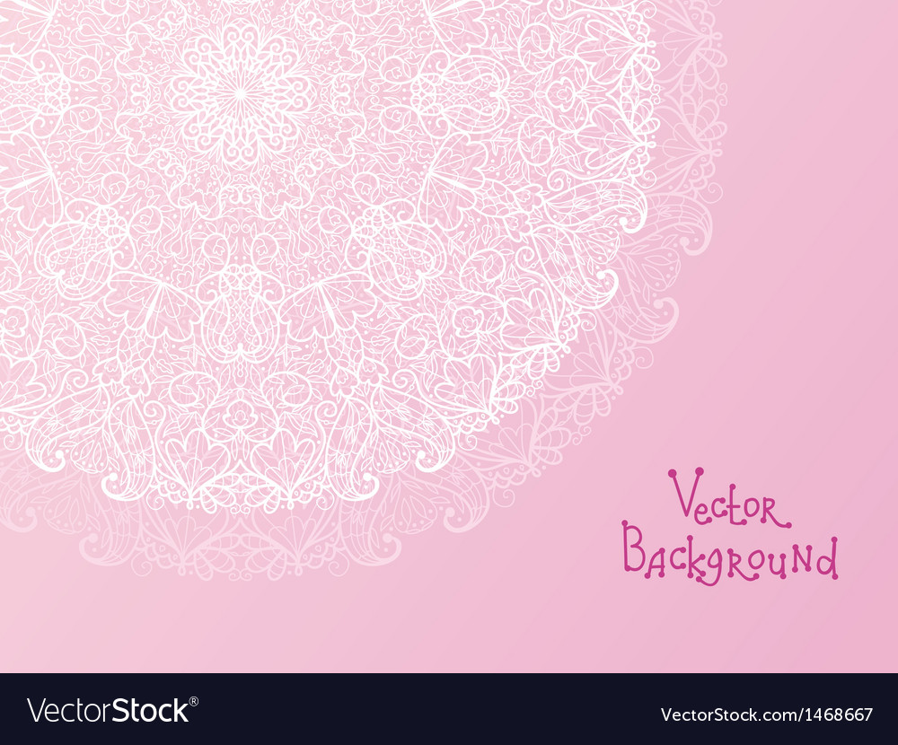 Abstract white doily vignette background vector image