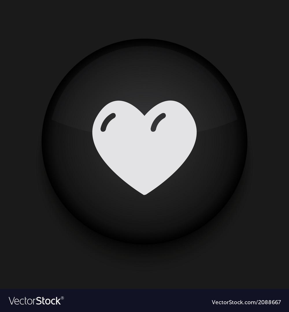 Modern black circle icon Eps10
