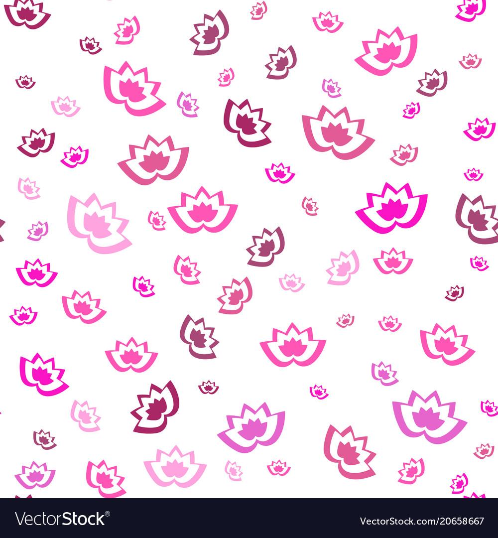 Pink lotus flowers seamless background